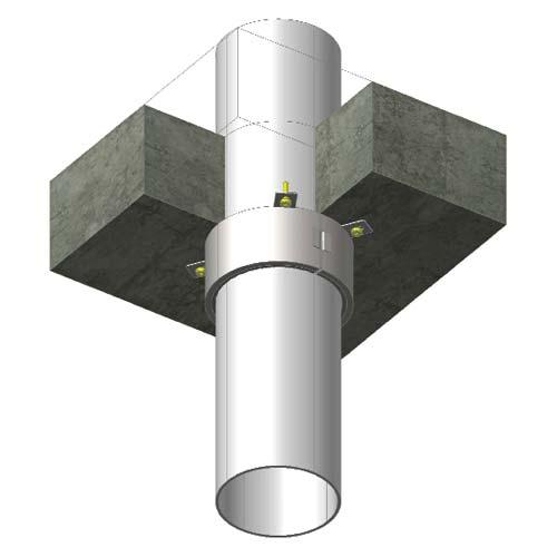 Colliers anti-feu pour tuyaux Abesco Z240